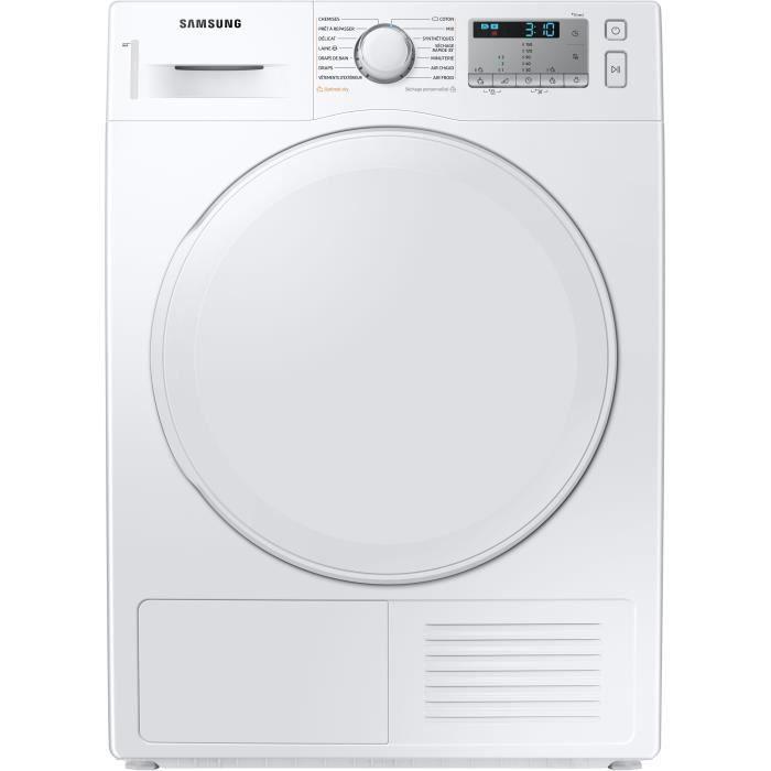 Sèche-linge pompe à chaleur Samsung DV80TA020DH - 8 kg, Blanc (via ODR de 60€)