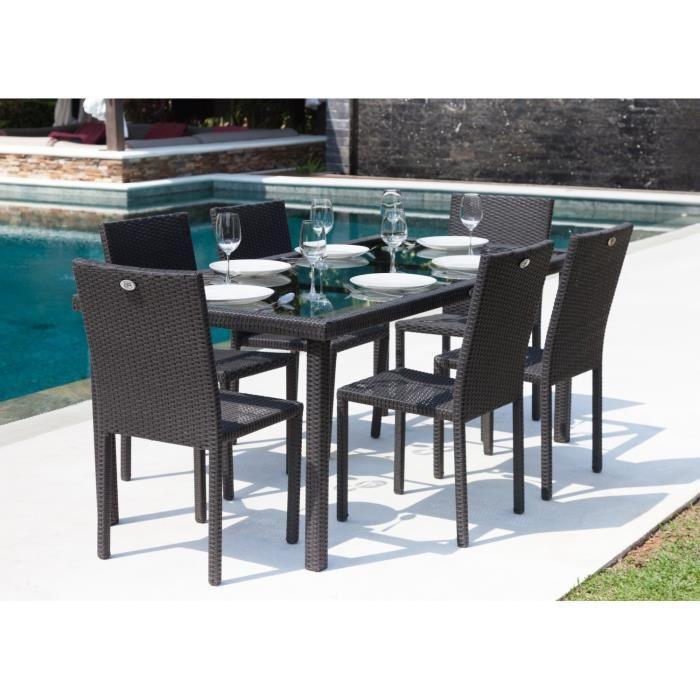Ensemble de Jardin Ibiza : Table + 6 Chaises