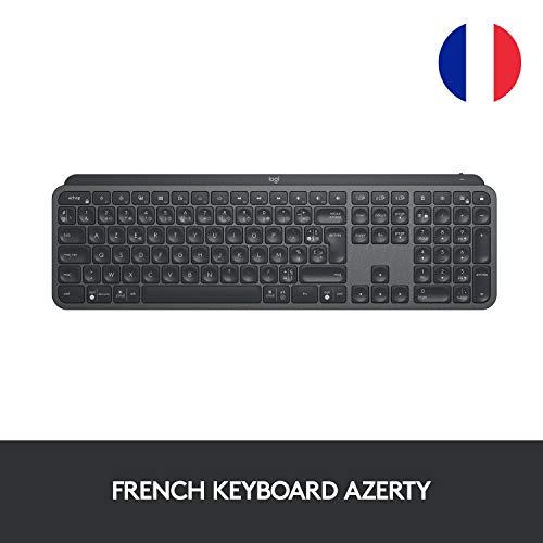 Clavier sans fil Logitech MX Keys Advanced Wireless Graphite - Azerty (Frais d'importation inclus)