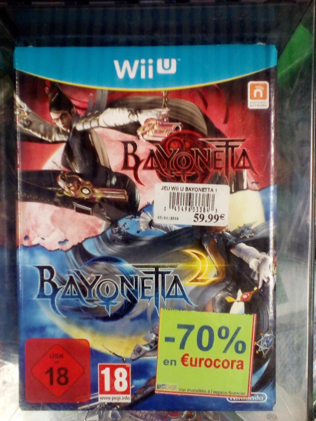 Jeu Bayonetta 1 et 2 sur Wii U (via 42€ en Eurocora)