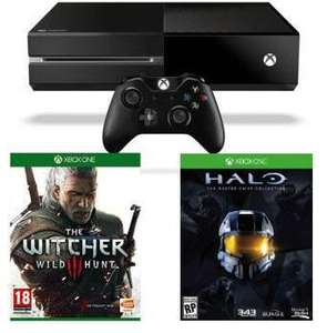 Console Microsoft Xbox One 500Go + The Witcher 3 + Halo : The Master Chief Collection