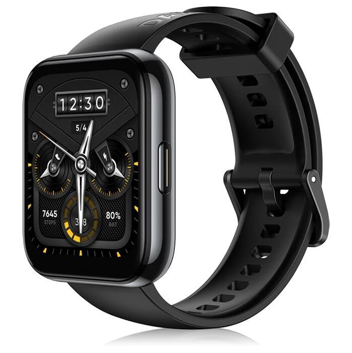 """Montre connectée Realme Watch 2 Pro - Ecran 1.75"""", IP68, GPS, FC & SpO2, Autonomie 14 jours, 90 modes sportifs (42.56€ avec AEETE03)"""