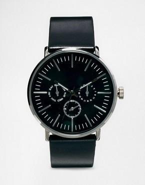 Montre Asos - Quartz, bracelet noir