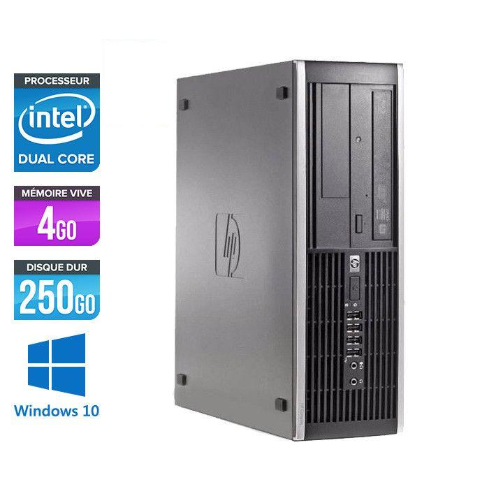 PC HP 6200 Pro SFF - Intel Pentium G620 2.60 GHz, 4Go RAM DDR3, 250Go HDD + Clavier + Souris (Reconditionné)