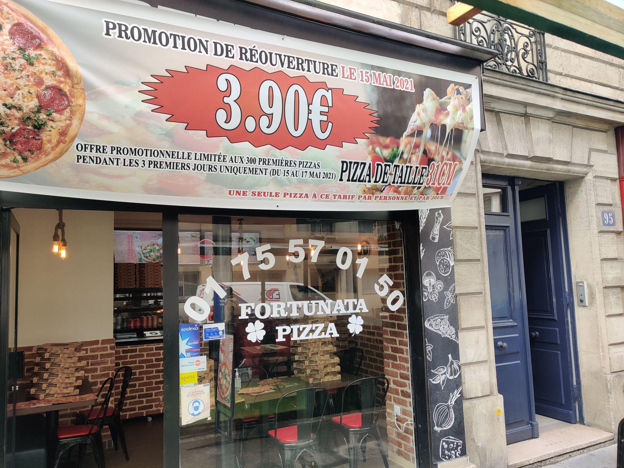 Pizza 31 cm au choix à 3.9€ - Fortunata Pizza Paris 18ème (75)