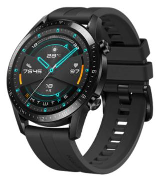 Montre connectée Huawei GT2 - 46mm, Noire (102€97 avec le code AEETE10)