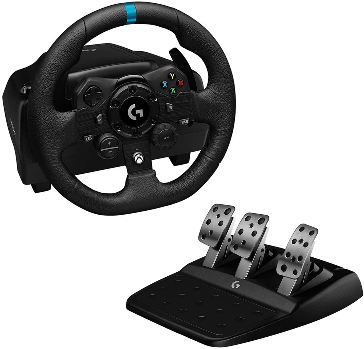 Volant de Course et Pédalier Logitech G923 TrueForce pour Playstation et PC