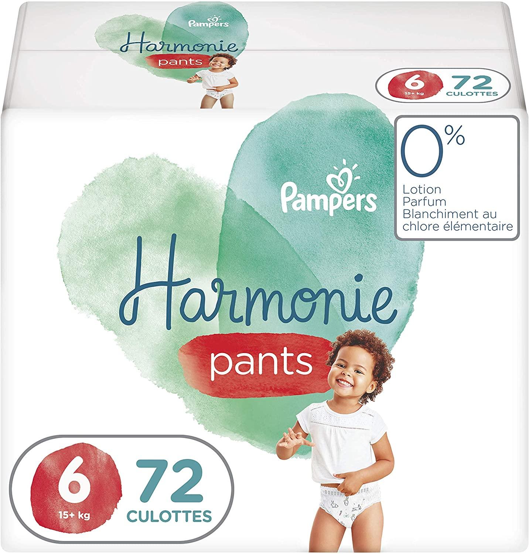 Pack de 72 Couches-Culottes Pampers Harmonie Pants - Taille 6 (dès 15kg)
