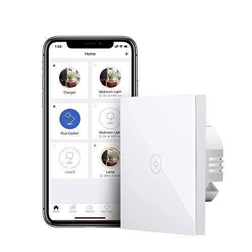 Interrupteur connecté tactile Meross MSS510 - (Fil neutre requis), Compatible Alexa, Google Home (Vendeur Tiers)
