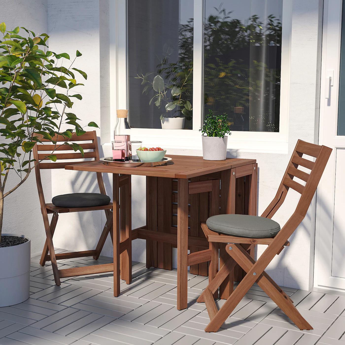 [Ikea Family] Table pliante d'extérieur Äpplarö - Teintée brun, 34/83/131 x 70 cm