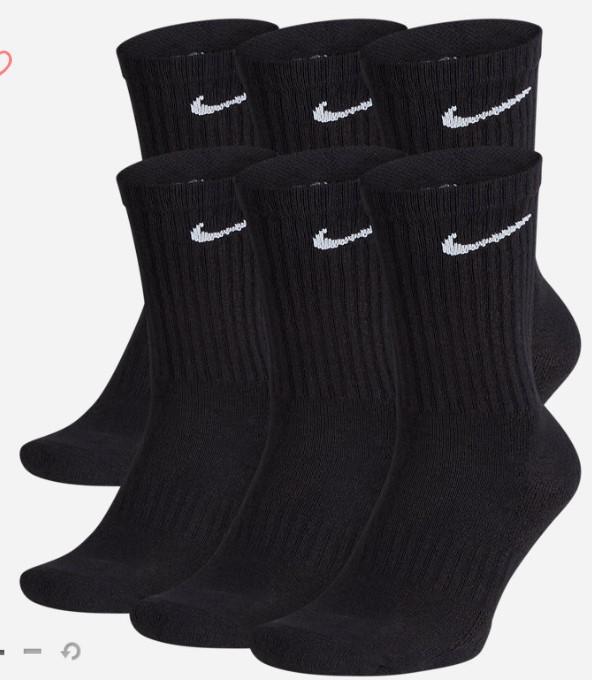 18 paires de chaussettes Nike Everyday Cushion Crew pour Homme - Tailles S à XL