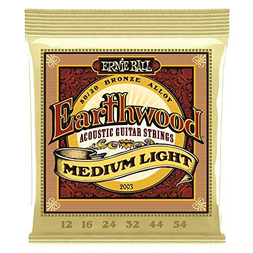 Set de cordes pour guitare acoustique Ernie Ball 2003 Earthwood Medium Light Folk 12-54