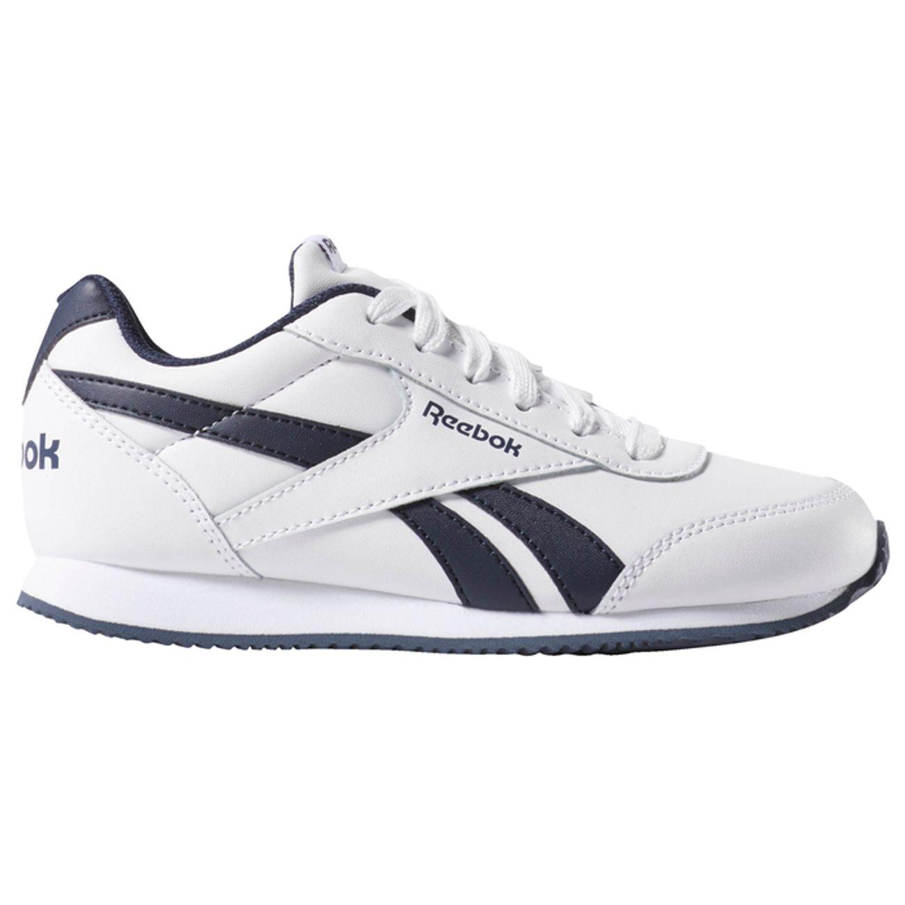 Chaussures de running Reebok Royal CL JOG pour Enfant - Blanc / Marine, Tailles 36 à 38