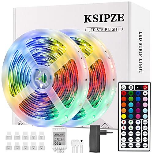 Ruban Ksipze 300 LEDs 5050 RGB Dimmable avec Télécommande - 10m (Vendeur Tiers)