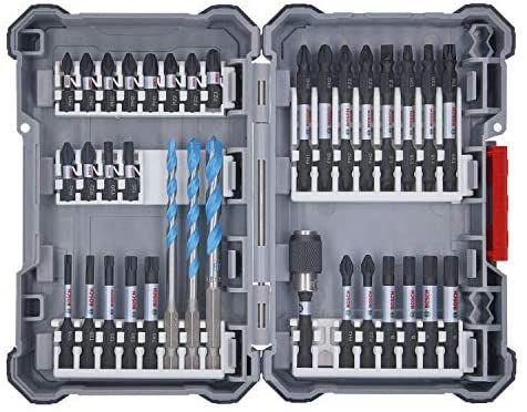 Set d'embouts Bosch Professional Pick and Click pour visseuse à chocs - 35 pièces