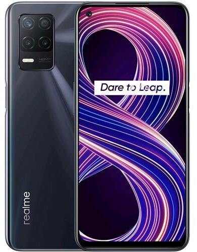 """Smartphone 6.52"""" Realme 8 5G - full HD+, Dimensity 700 (MT6833), 4 Go de RAM, 64 Go, 48 Mpix, noir"""