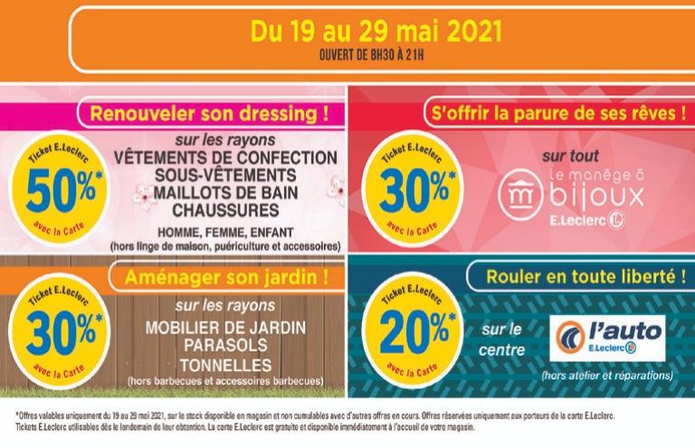 Sélection d'offres promotionnelles (via crédits fidélité) - Bois-d'Arcy (78)