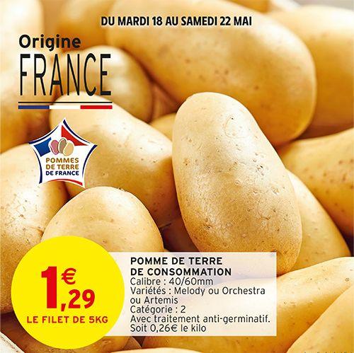 Filet de pommes de terre de consommation - Origine France (5kg)