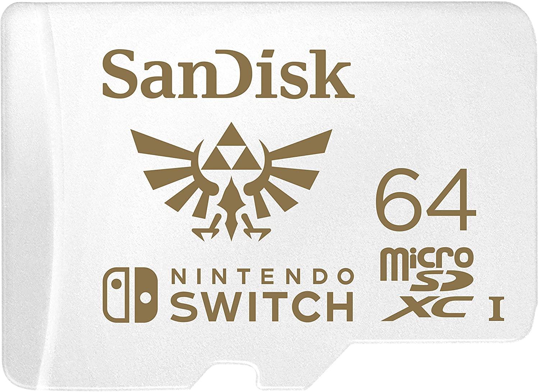 Carte mémoire microSDXC SanDisk pour Nintendo Switch - 64 Go