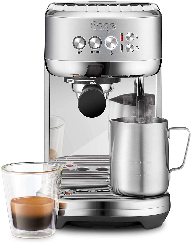 Machine à expresso Sage SES500 The Bambino Plus - avec mousseur à lait automatique, en acier inoxydable brossé