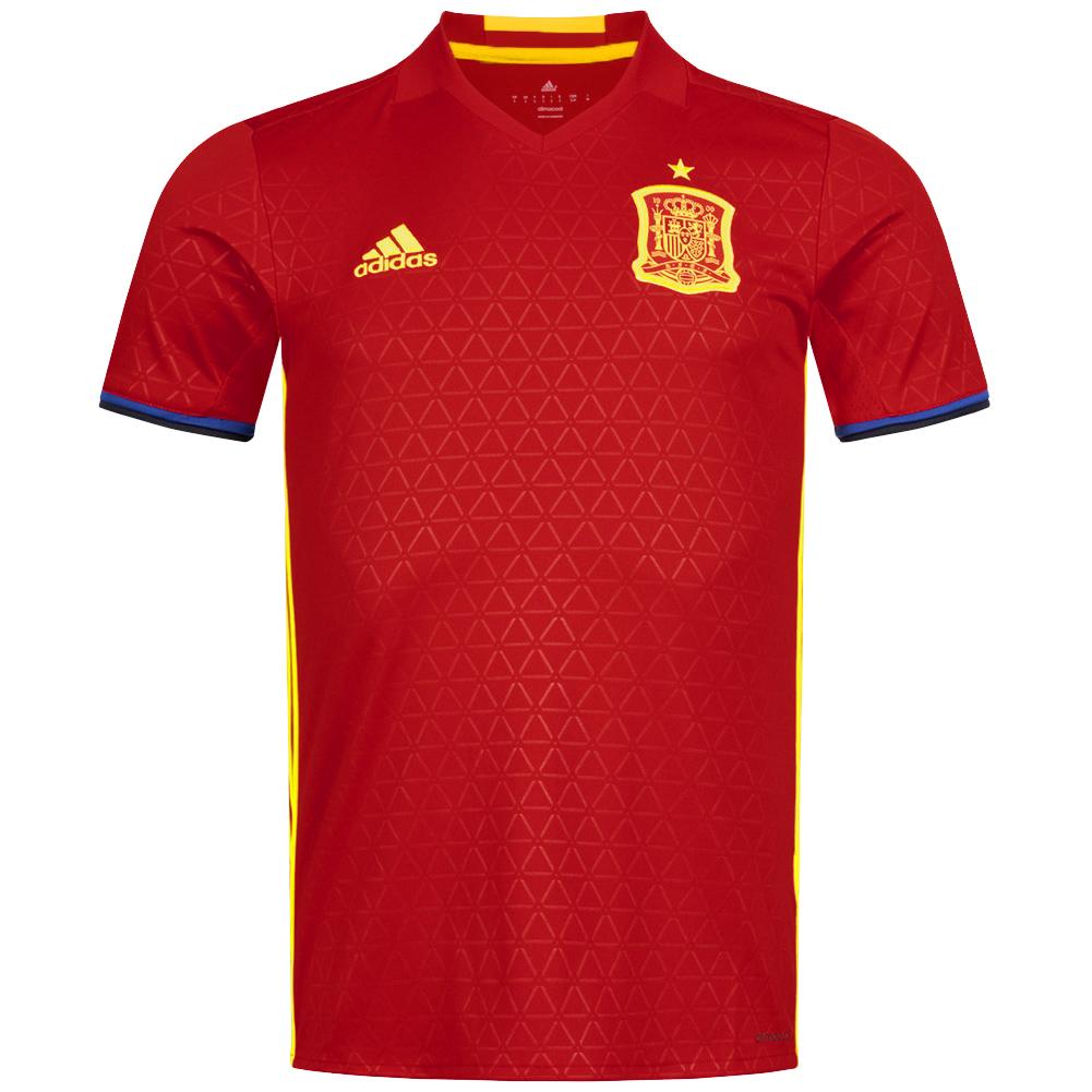 Maillot de football adidas Espagne Domicile 2016 pour Homme - Tailles S, XL et 3XL