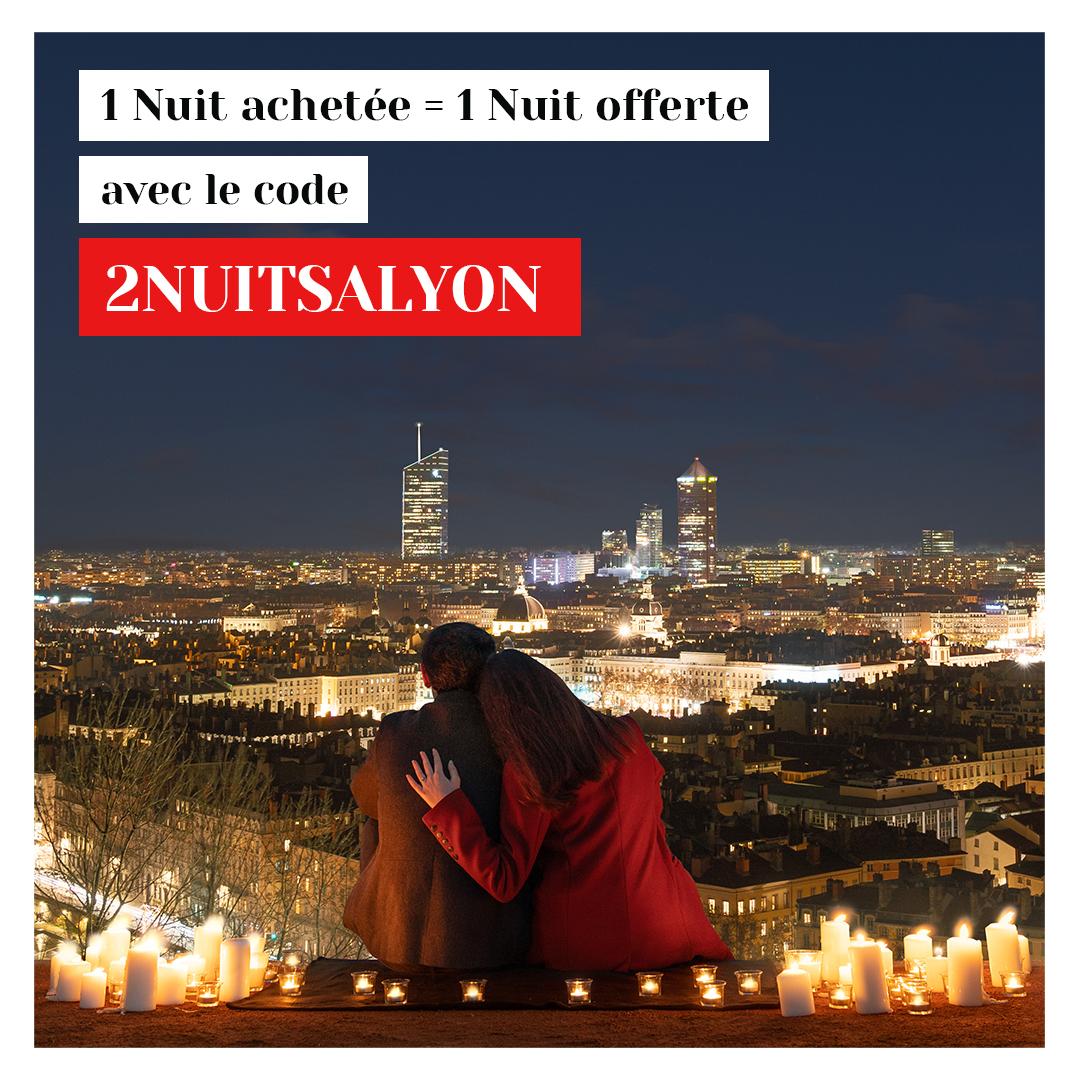 1 nuit achetée = 1 nuit offerte dans une sélection d'hôtel - Lyon (69) - Lyon-France.com