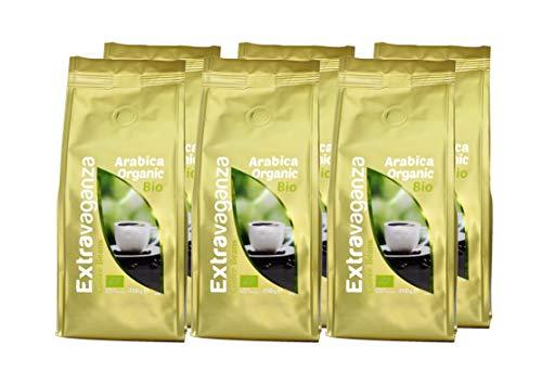 Lot de 12 paquets de grains de café entiers Arabica bio Extravaganza - 12 x 250 g