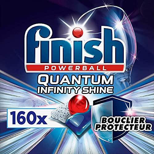 Pack de 160 Pastilles lave vaisselle Finish Quantum Infinity Shine