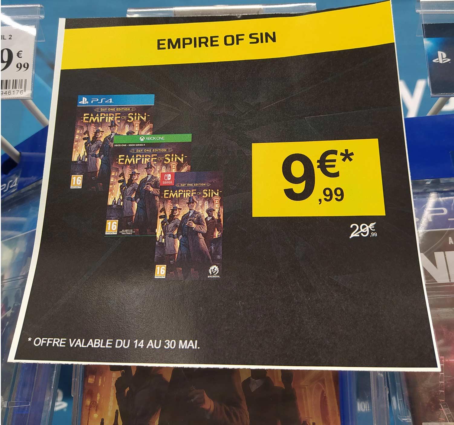 Empire of Sin sur Nintendo Switch, PS4, Xbox - Belfort Bessoncourt (90)