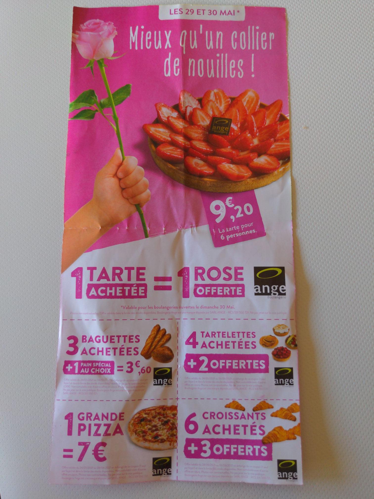 Sélection d'offres promotionnelles - Boulangerie Ange