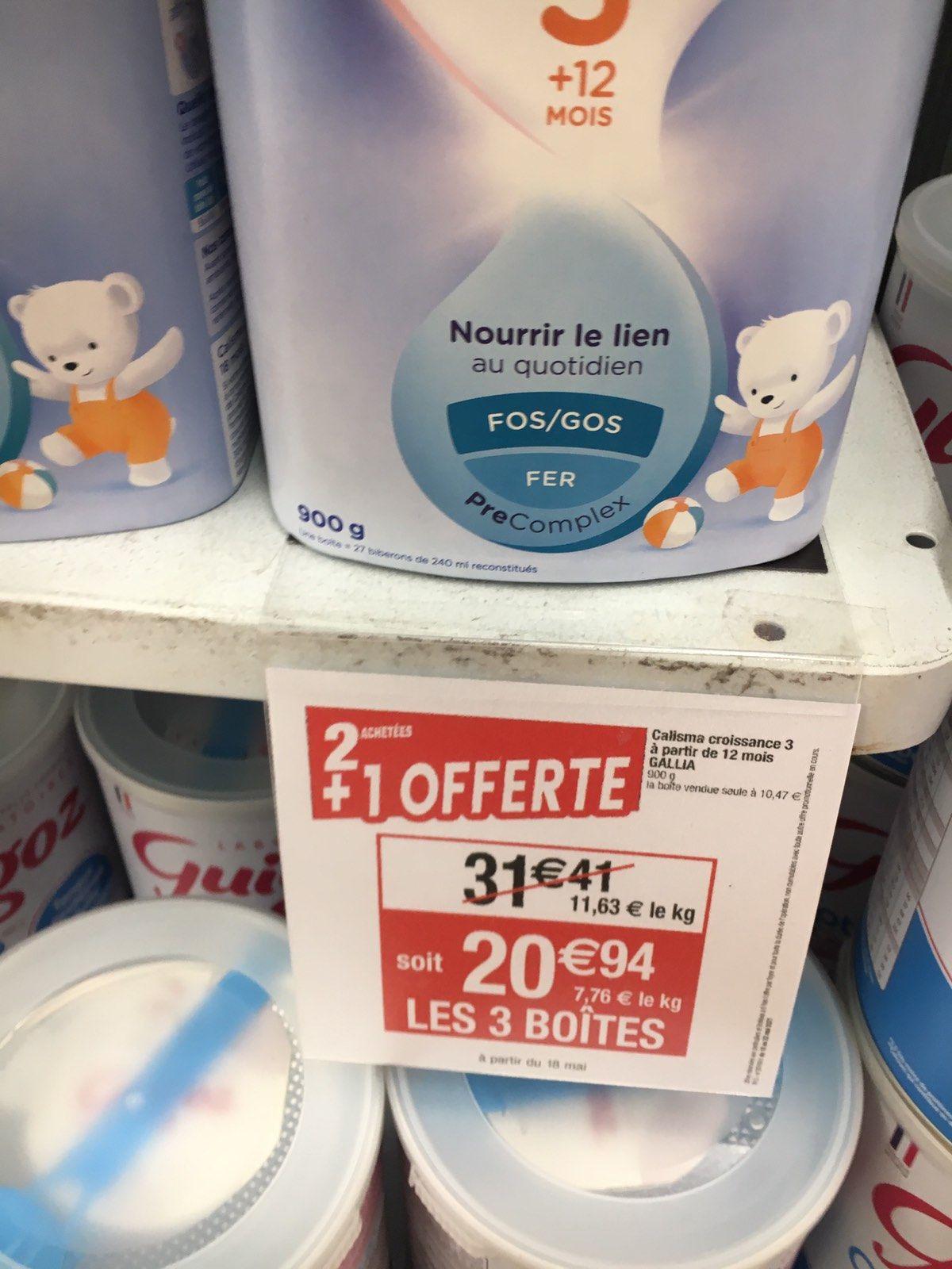 3 boîtes de lait bébé Gallia +12 mois - Leclerc Mulhouse (68)