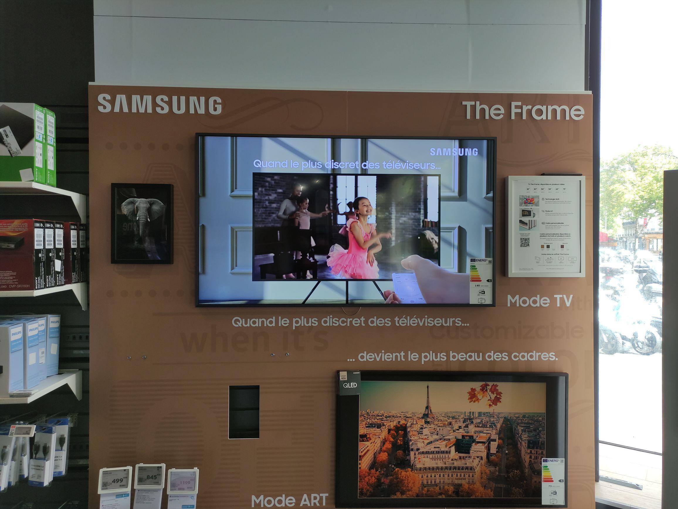 """TV 43"""" Samsung the frame 2021 - Darty République (75)"""