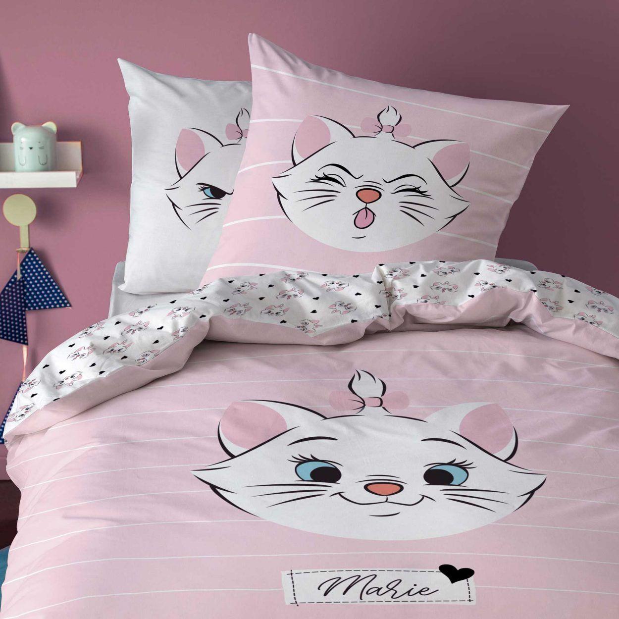 Parure de lit pour enfant - 140 x 200 cm, 1 taie d'oreiller 63 x 63 cm