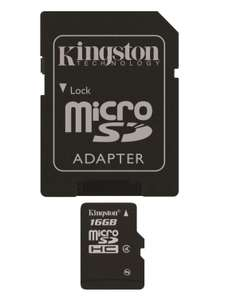 [Panier Plus] Carte Micro SDHC Kingston classe 4 - 16 Go