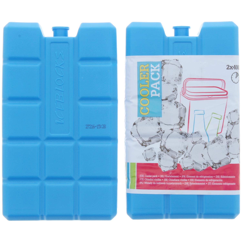 Lot de 2 Blocs réfrigérants réutilisables - 2 x 400 ml
