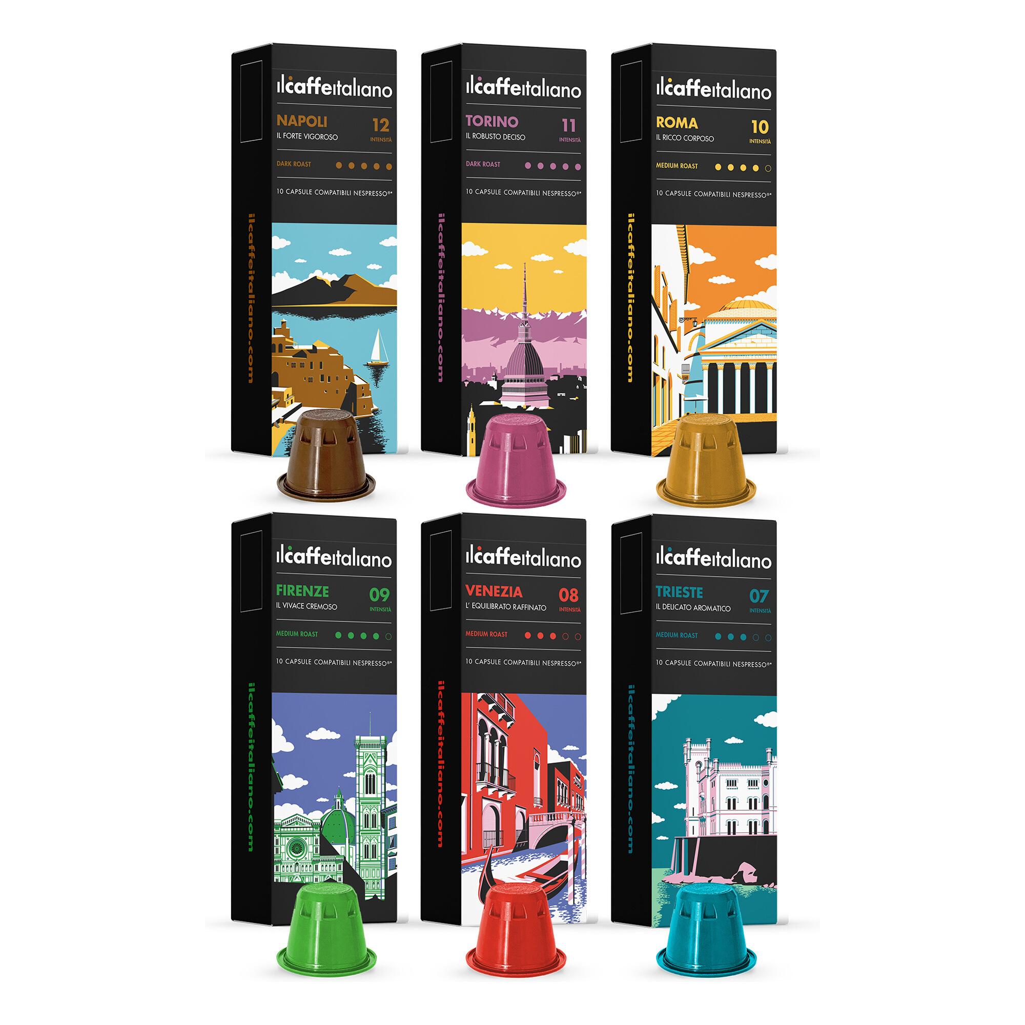 120 Capsules de café Il Caffe Italiano - compatibles Nespresso