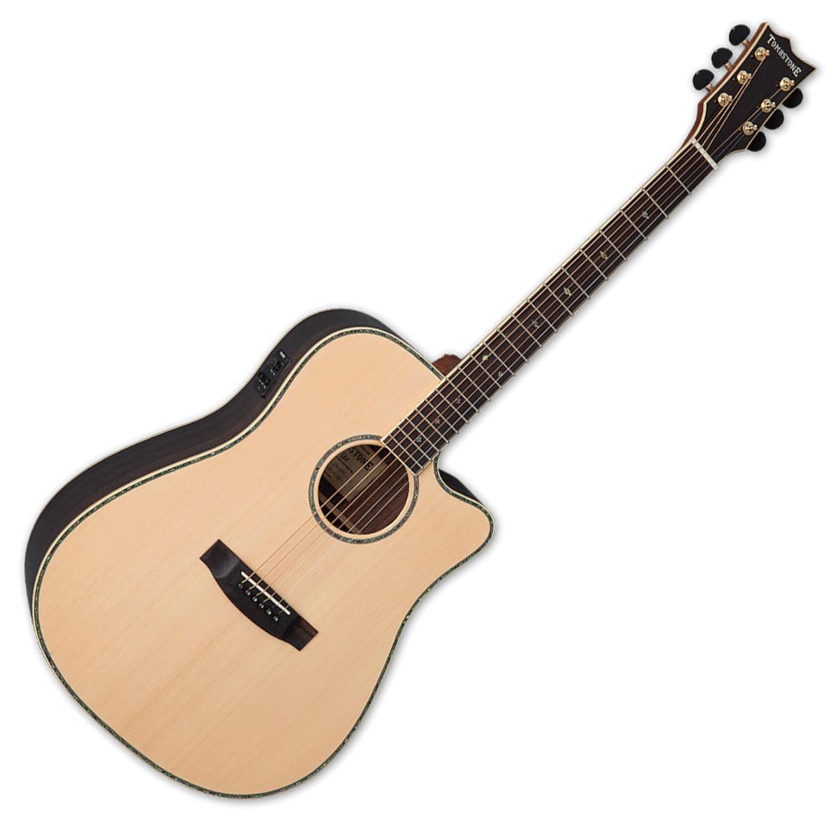 Guitare électro-acoustique à table massive ESP/LTD/Tombstone D-430E