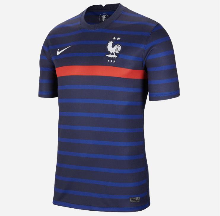 Maillot de football Équipe de France à domicile pour Homme - Tailles XS à XXL