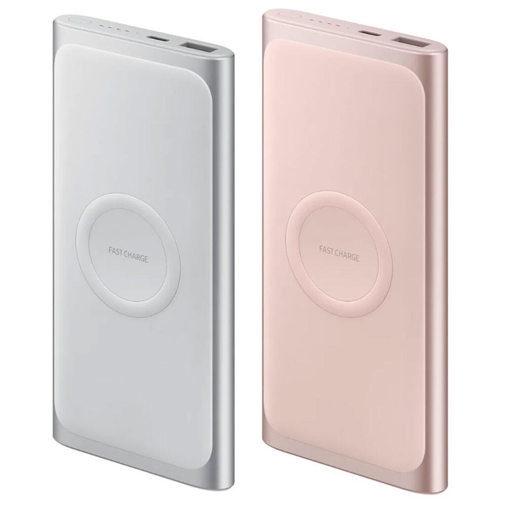 Batterie externe Samsung EB-U1200C (10000 mAh) - Charge rapide et sans-fil Qi, Argent ou Rose (Via ODR de 20€)