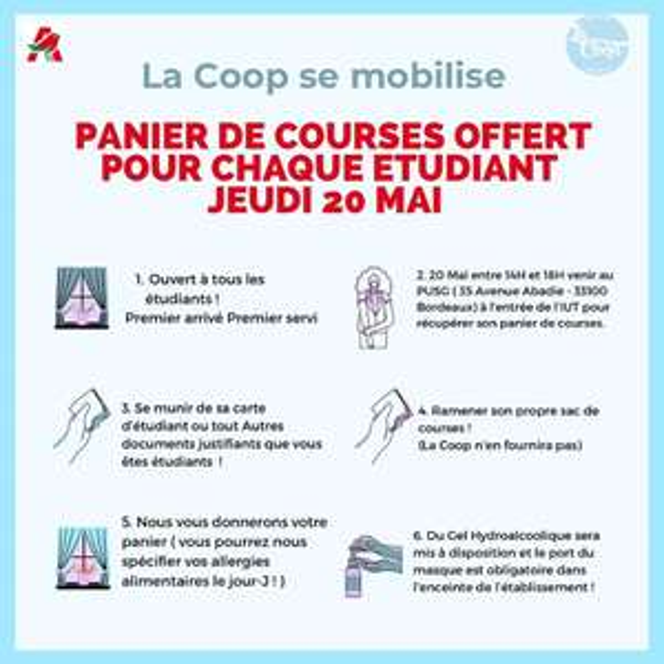 [Étudiants] Panier de courses offert - Bordeaux (33)