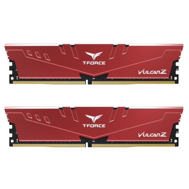 Kit de RAM Team T-Force Vulcan Z DDR4-3200 CL16 - 16 Go (2x8), rouge
