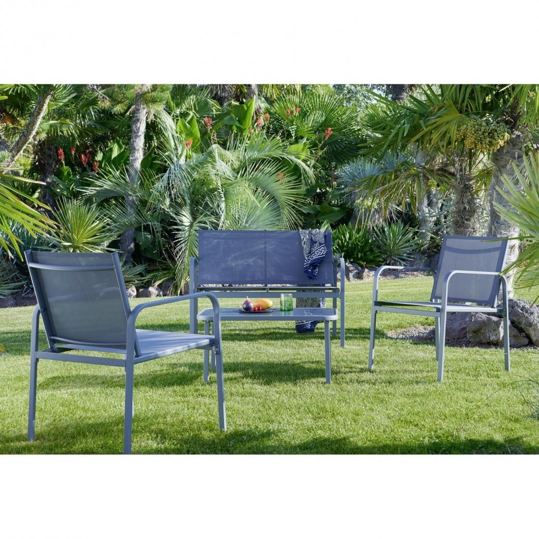 Sélection d'articles pour le jardin en promotion + livraison offerte - Ex: Salon de jardin Antalya 4 pièces - 1 canapé, 2 fauteuils, table