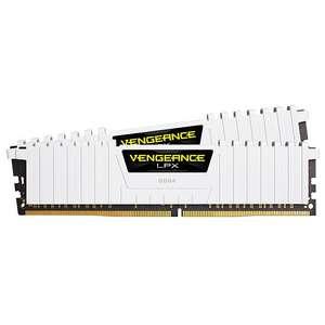 Sélection de mémoires PC Corsair en promotion - Ex : Corsair Vengeance LPX White DDR4 2 x 8 Go 3200 MHz CAS 16