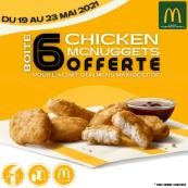 Boite de 6 Mcnuggets offert pour tout achat d'un menu Maxi Bestof