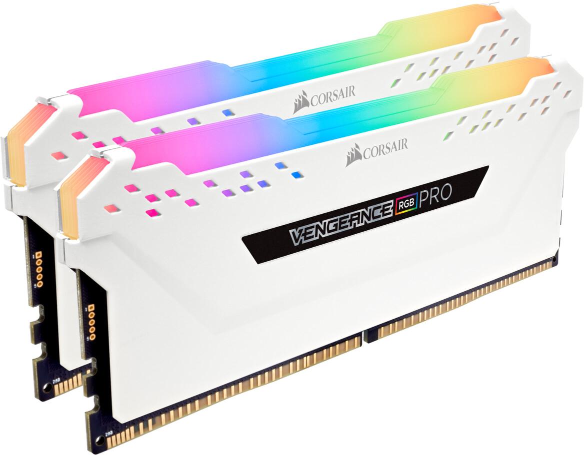 Kit d'éclairage Corsair Vengeance RGB Pro - mémoires factices, blanc