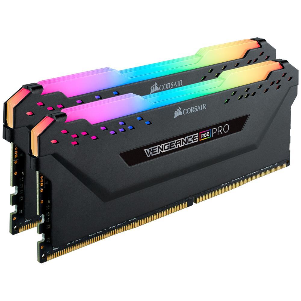 Sélection de kits mémoire RAM en promo - Ex : DDR4 Corsair Vengeance RGB Pro - 16 Go (2 x 8 Go), 3000 MHz, CAS 15
