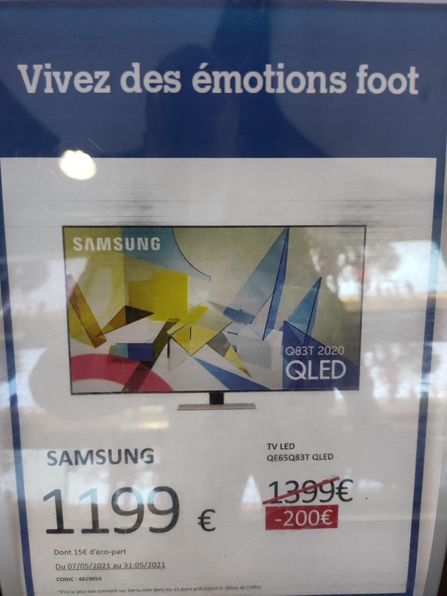 "TV QLED 65"" Samsung QE65Q83T - 4K UHD, HDR 10+, Smart TV - Bercy (94)"