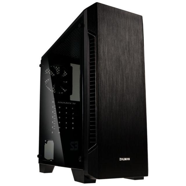 Boîtier PC Zalman S3 - avec fenêtre, noir