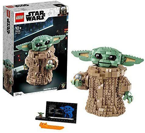 Jouet Lego Star Wars: The Mandalorian, Figurine de l'Enfant Bébé Yoda 75318
