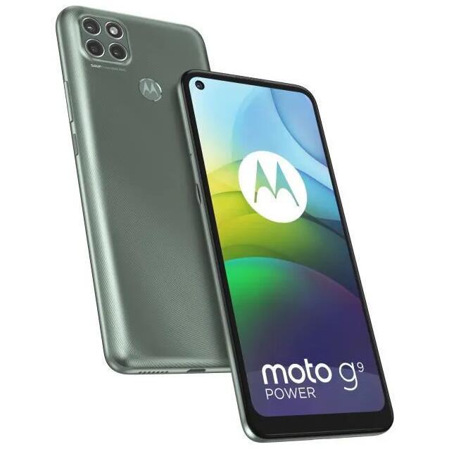 "Smartphone 6.8"" Motorola Moto G9 Power - HD+, Snapdragon 662, RAM 4 Go, 128 Go, APN 64+2+2 MP, 6000 mAh (Vert)"